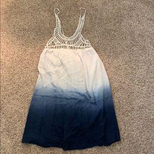 blue ombré mini dress | tobi